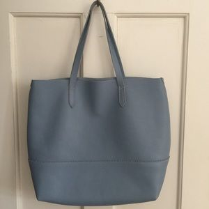 Perfect Condition - J. Crew Blue Leather Tote